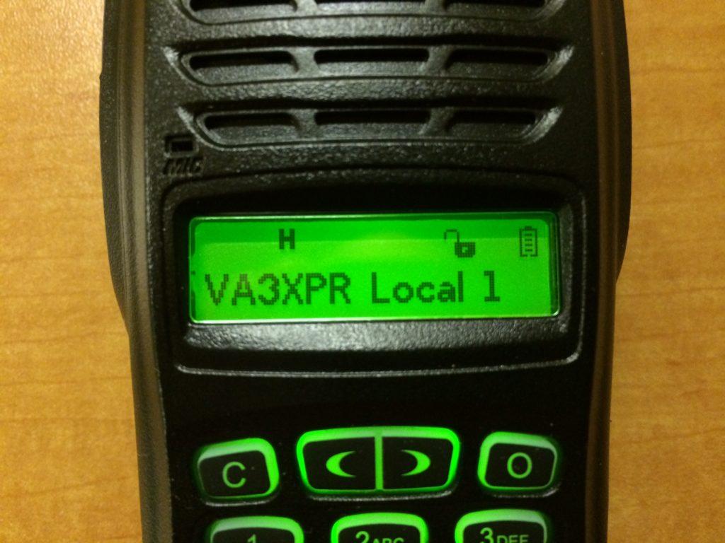 Connect System, CS700, UHF, DMR, digital mobile radio, HT, portable, radio, ham radio, amateur radio, VA3XPR, review, LCD display, UHF, front, CSI